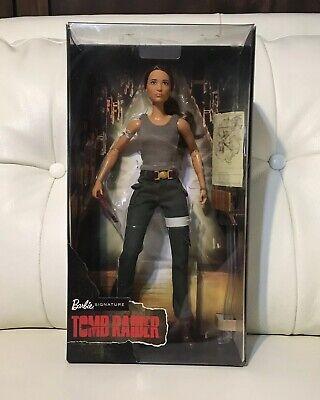 Lara Croft TOMB RAIDER Alicia Vikander Doll Barbie Signature Mattel 12 Inch