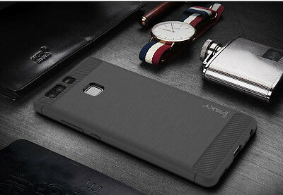 Ipaky Soft Silicone TPU Rubber Back Case Cover Skin For Huawei Ascend P9/P9 Lite