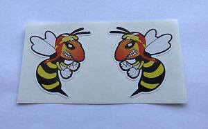 Angry-Wasp-2x-Stickers-Vespa-Scooter-Van-Truck-Helmet-Laptop-Tablet-Bike-Door-PC