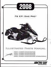 2008 ARCTIC CAT SNOWMOBILE F6 EFI SNO PRO PARTS MANUAL P/N 2257-979  (468)