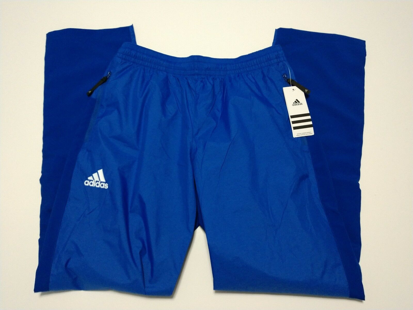 Adidas Womens bluee ATHLETIC NYLON PANTS Small new nwt