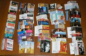 Lot-of-200-Music-Cassette-Tape-Paper-Inserts-Artwork-for-Pop-Classical-etc