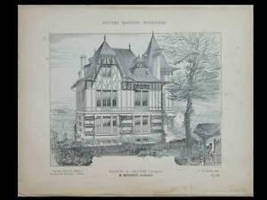 Arches Vosges, Villa - 1906 - Planches Architecture - Mougenot Style à La Mode;