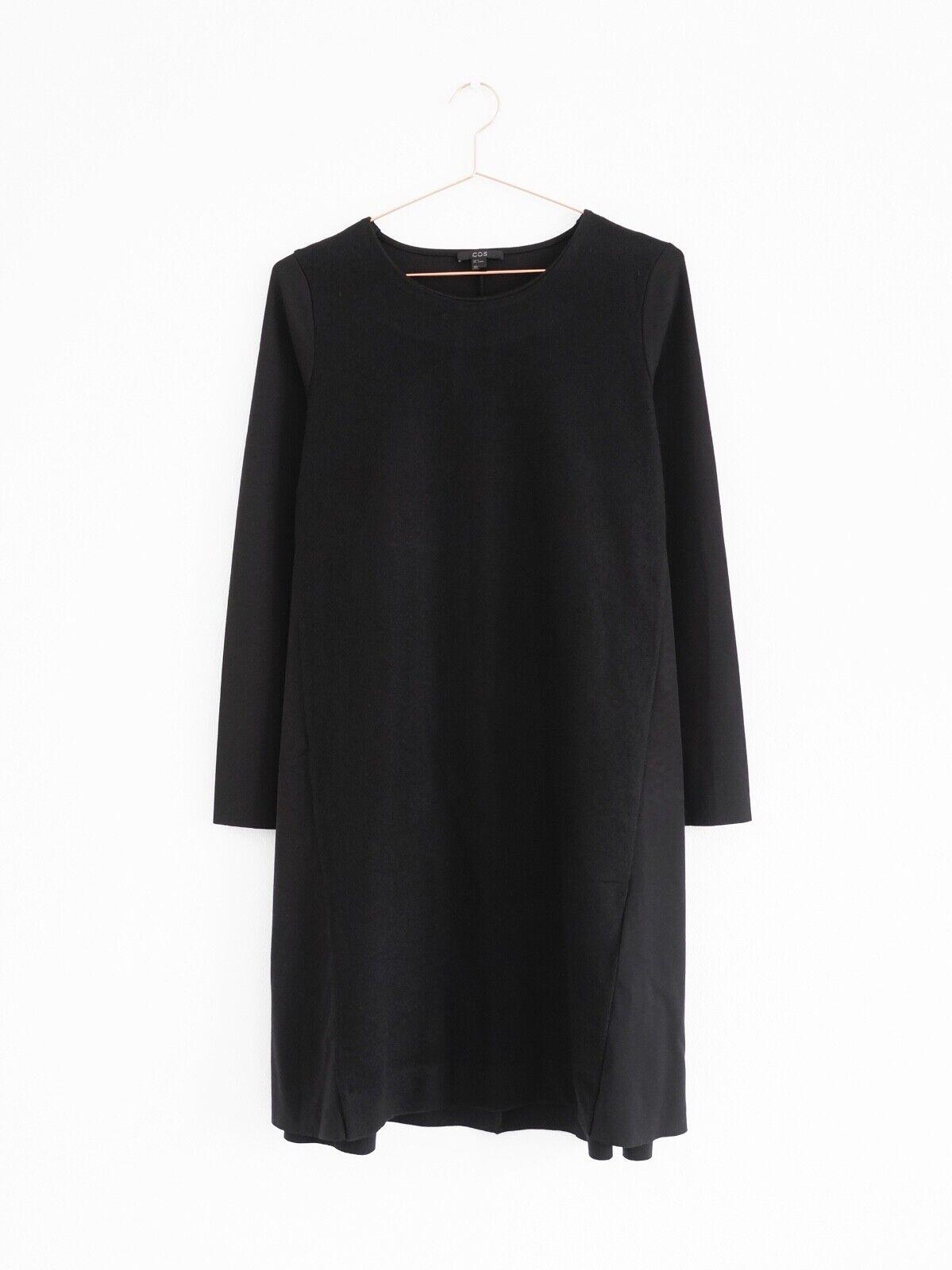 HOF115: COS Kleid A-Linie wolle schwarz / Wool front A-line dress black M