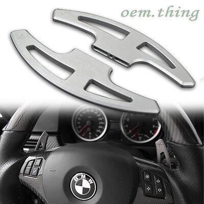Silver Aluminum Hairlines Steering Shift Paddles BMW 3er E90 E92 E93 M3 ○