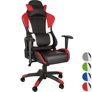 Racing-chaise-fauteuil-de-bureau-sport-siege-voiture-simili-reglable-sportive