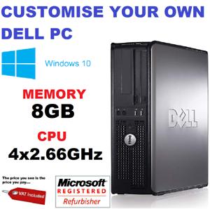 Rapide-Dell-Quad-Core-Ordinateur-PC-De-Bureau-Tour-Windows-10-WiFi-8-Go-ram-HDD-amp-SSD