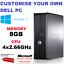 Rapido-Dell-Quad-Core-PC-Torre-escritorio-Windows-10-Wifi-8GB-de-RAM-SSD-HDD-amp miniatura 1