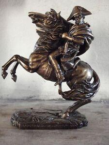 Statue-equestre-Napoleon-General-Bonaparte-par-Jean-Louis-David-patine-bronze