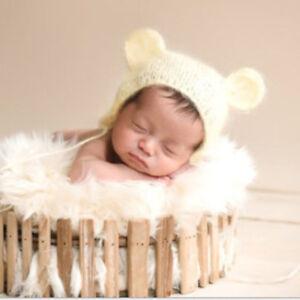 Cute Newborn Baby Crochet Knit Handmade Bear Ear Hat Cap Photo ... c3767258d12c