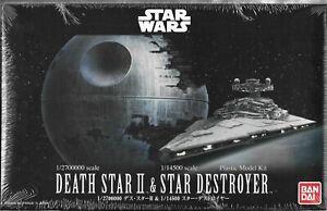BANDAI Star Wars Death Star II /& Star Destroyer Mini Plastic Model Set New 2018