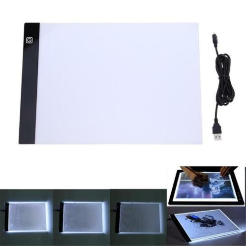 A4 Größe LED Grafik Zeichenbrett Light Art Tracing Schablonenblock mit Dimmer