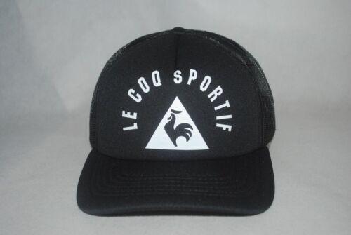 Le Coq Sportif Men/'s Mesh Back Trucker Hat Semi-curved Bill Adjustable Hat OSFM