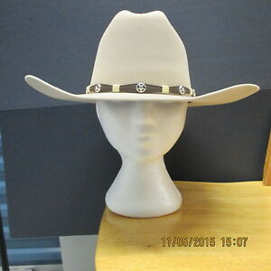 Image is loading Cream-Colored-Cowboy-Hat-by-Rod-039-s- f6992a14d7e