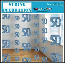 50th Birthday Blue hanging door decoration – length 60in