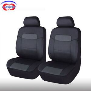 Amazing 2 Front 6 Pcs Universal Car Seat Covers Black Pu Leather Pabps2019 Chair Design Images Pabps2019Com