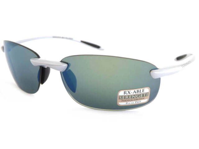 2c8659f408 SERENGETI polarized photochromic NUVOLA sunglasses SILVER  555 Blue Mirror  8289