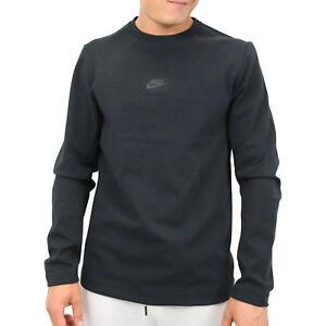 Détails sur Nike Sportswear Tech Pack Crewneck Pull Sweatshirt homme Noir aa3782 010 afficher le titre d'origine