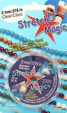 SMC05-01 Pepperell Stretch Magic Bead /& Jewelry Cord .5mm Clear Item No