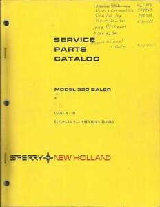 Details about NEW HOLLAND MODEL 320 BALER PARTS CATALOG