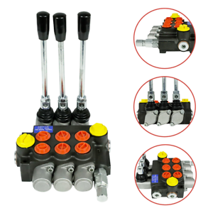 HQ-3-Spool-Hydraulic-Directional-Control-Valve-Manual-Operate-3600Psi-13gpm