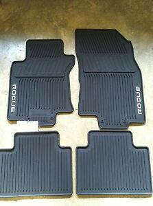 NEW OEM 2014-2019 NISSAN ROGUE 4 PC ALL WEATHER RUBBER ...