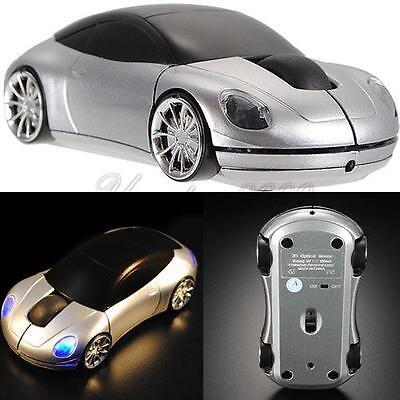 2.4GHz 1600DPI 3D Car Shape Optical Wireless Mouse USB Receiver High Quality