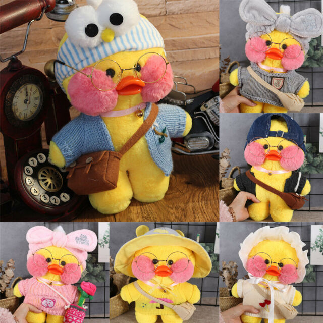 11.8/'/' kawaii Korea Lalafanfan Cafe Mimi Yellow Duck Plush Toy Stuffed Doll
