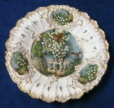 Meissen Charger with Fairies Insects and Lilies of the Valley