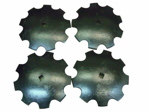 18'' Notched Disc Harrow Blades Scalloped HEAVY DUTY 1 or 1 1/8 SQ  *LOT OF 4*