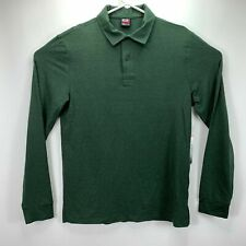 Mens Size S Small 32 Degrees Heat Long Sleeve Polo Shirt Green