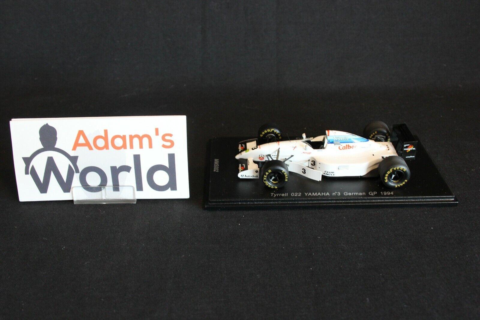Spark Tyrrell Yamaha 022 1994 1 43  3 Ukyo Katayama (JPN) German GP (KL)