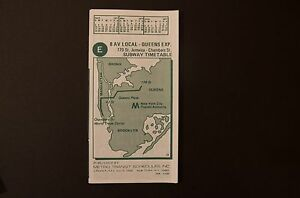Nyc Subway Map E Train.Details About Nos 1977 New York City Subway E 8 Ave Exp Train Timetable Line Map Schedule Nyc