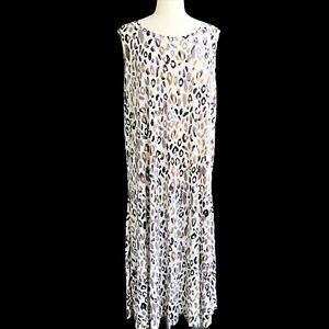 ATTITUDES-BY-RENEE-Petite-3X-Knit-Stone-Animal-Prints-Sleeveless-Long-Dress