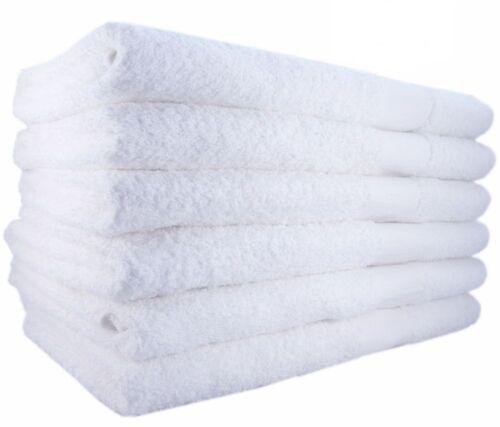 24 new bright white ringspun soft 22x44 bath towels atlantic mills brand salon