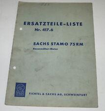 Ersatzteilliste Sachs Stamo 75 RM Rasenmäher Motor Vergaser Kolben Nr. 417.6