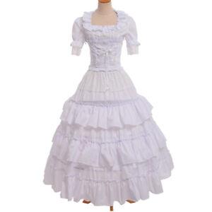Lolita Girls Victorian Prom Dress Civil War Southern Belle Ball Gown ...