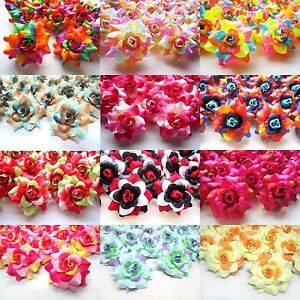"(24pcs) 1.75"" Silk Roses - Artificial Flower Heads - Fabric - Wedding decoration"