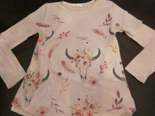 Steer skull and feather shirt boho cowgirl style new