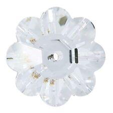 Swarovski Crystal, #3700 Flower Margarita Beads 6mm , 12 Pieces, Crystal