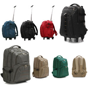 Mens-Canvas-Backpack-Rucksack-Bag-Trolley-School-Travel-Unisex-Laptop-Bag-UK-New