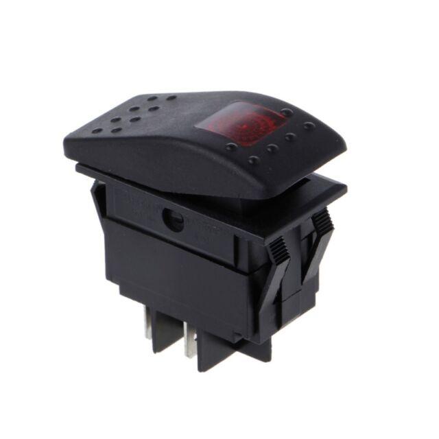 3Pcs 4 Pin Waterproof 12V 20A Bar Rocker Toggle Switch LED Light Car Boat