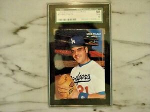 Details About 1994 Mothers Cookies 3 Mike Piazza Gem Mint 10 Rookie Of The Year Baseball Card