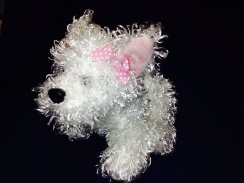 GANZ Lil' WHITE TERRIER DOG PLUSH ANIMAL WEBKINZ NEW NO TAG