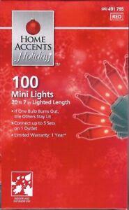 RED-MINI-LIGHTS-100-CT-VALENTINE-039-S-DAY-HOLIDAYS-PARTIES-20-7-FT-NIB
