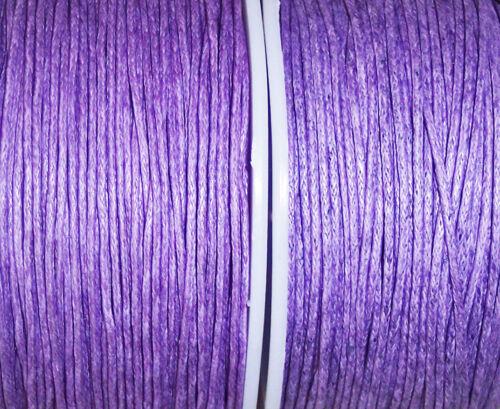 10 m perlschnur algodón aspiraran en violeta lila 0,8 mm fädelschnur perlfaden
