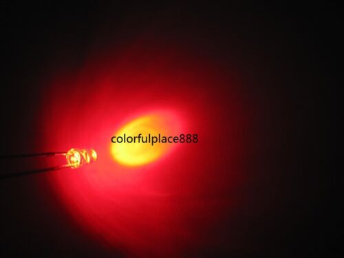 1000pcs 3mm Red Round High Power Super Bright 20,000 MCD Water Clear LED Leds