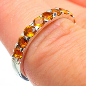 Citrine-925-Sterling-Silver-Ring-Size-7-25-Ana-Co-Jewelry-R29085F