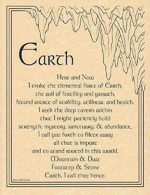 "Earth Evocation Parchment Poster  8 1/2"" by 11"""
