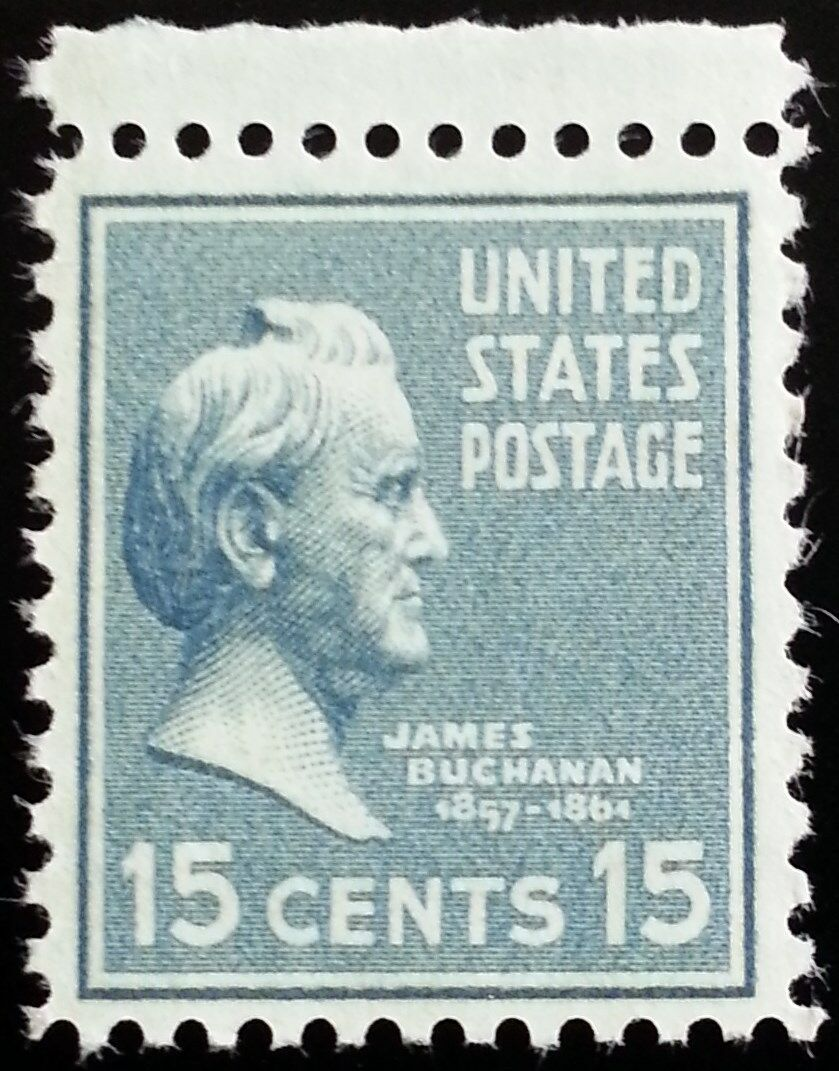 1938 15c James Buchanan, 15th President Scott 820 Mint